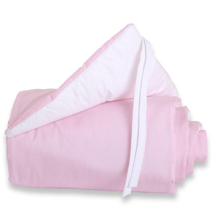 babybay Nestchen Cotton Maxi rose/weiß 168 x 24 cm