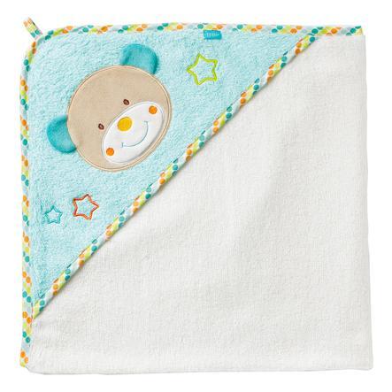 BABY SUN Serviette de bain à capuche Teddy Bon Voyage