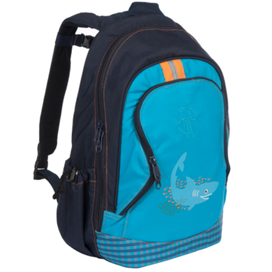 LÄSSIG Mini batoh Backpack Big Shark ocean