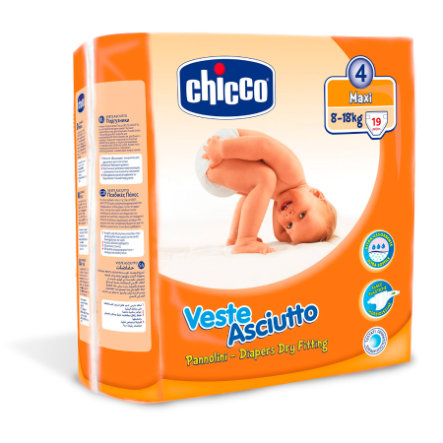 CHICCO Pieluszki Maxi rozm. 4, 19 sztuk