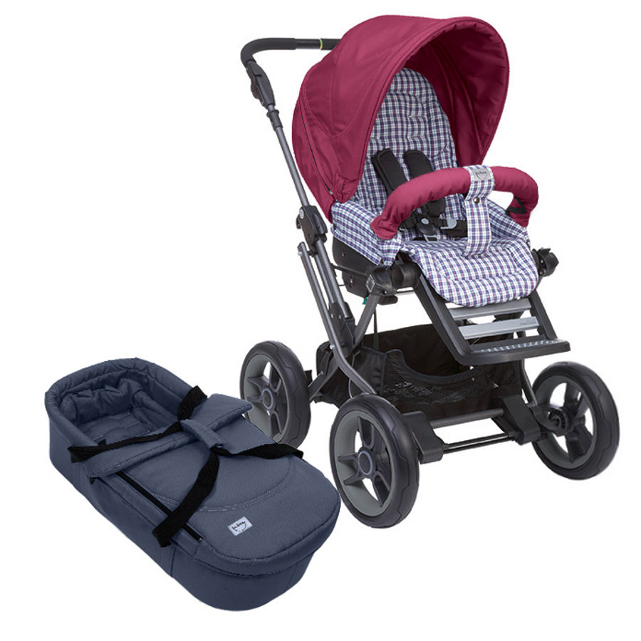 TEUTONIA Stroller MISTRAL P Titanium MFY Design 5020/5075 incl. Hand Brake and Vario Plus Carrycot Collection 2015