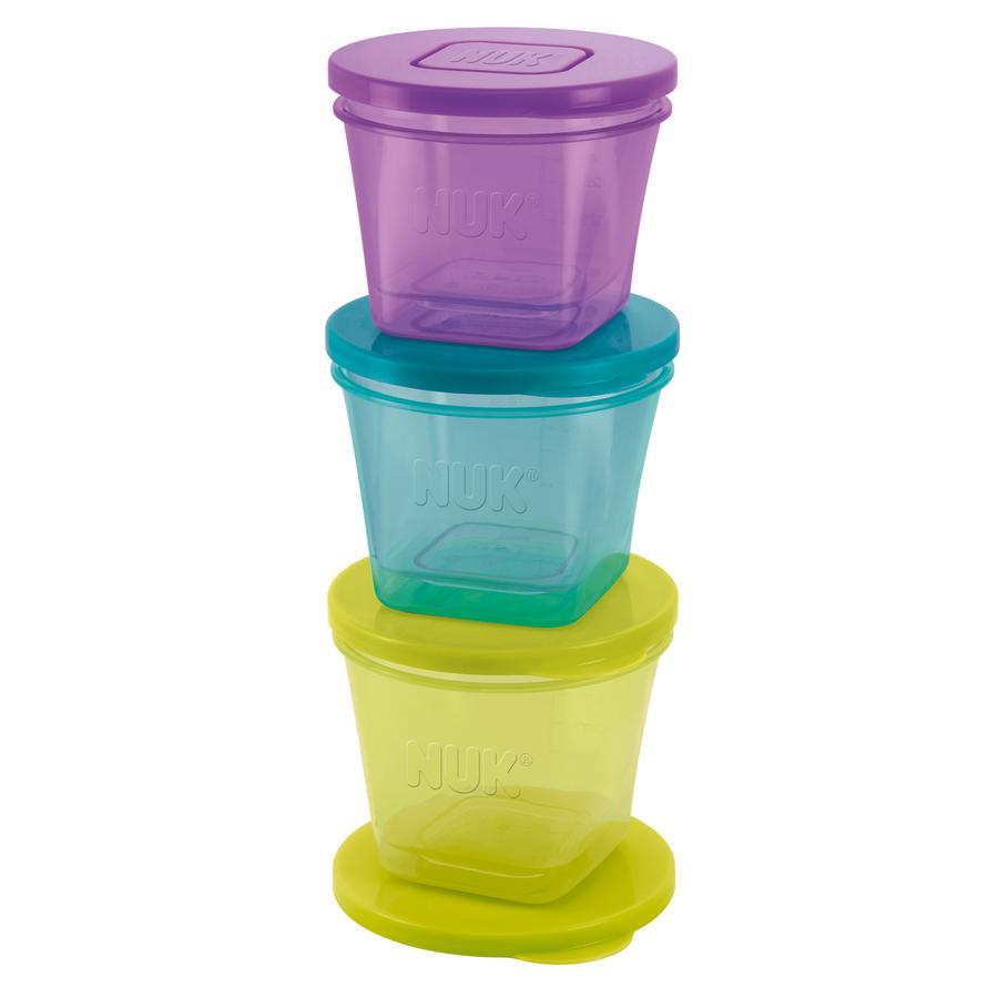 NUK Förvaringsburkar 6-pack (olika färger)