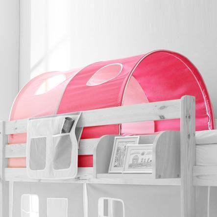TiCAA Tunnel pour lit superposé/surélevé enfant - rose rose vif Classic 87x100 cm