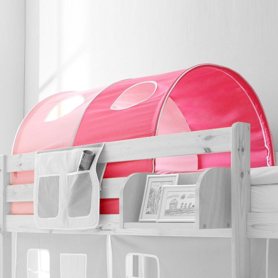 TICAA Tunnel voor hoogslapers en stapelbedden - roze pink - Classic