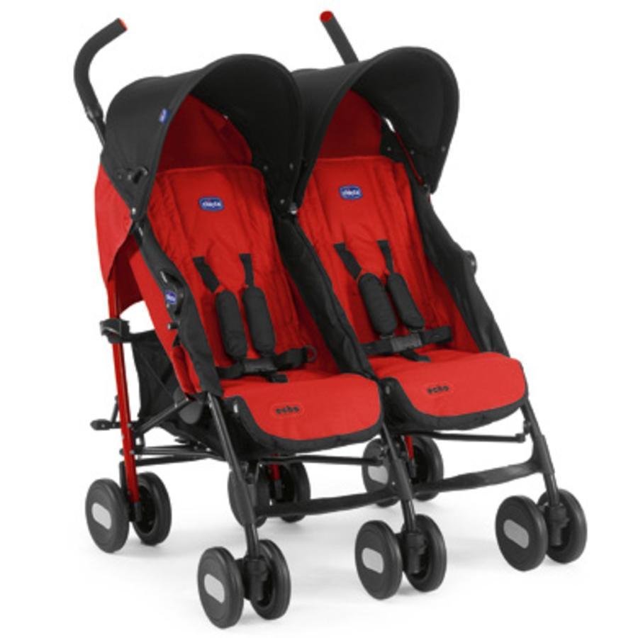 Sportovní sourozenecký kočárek CHICCO Echo Twin GARNET kolekce 2012/13