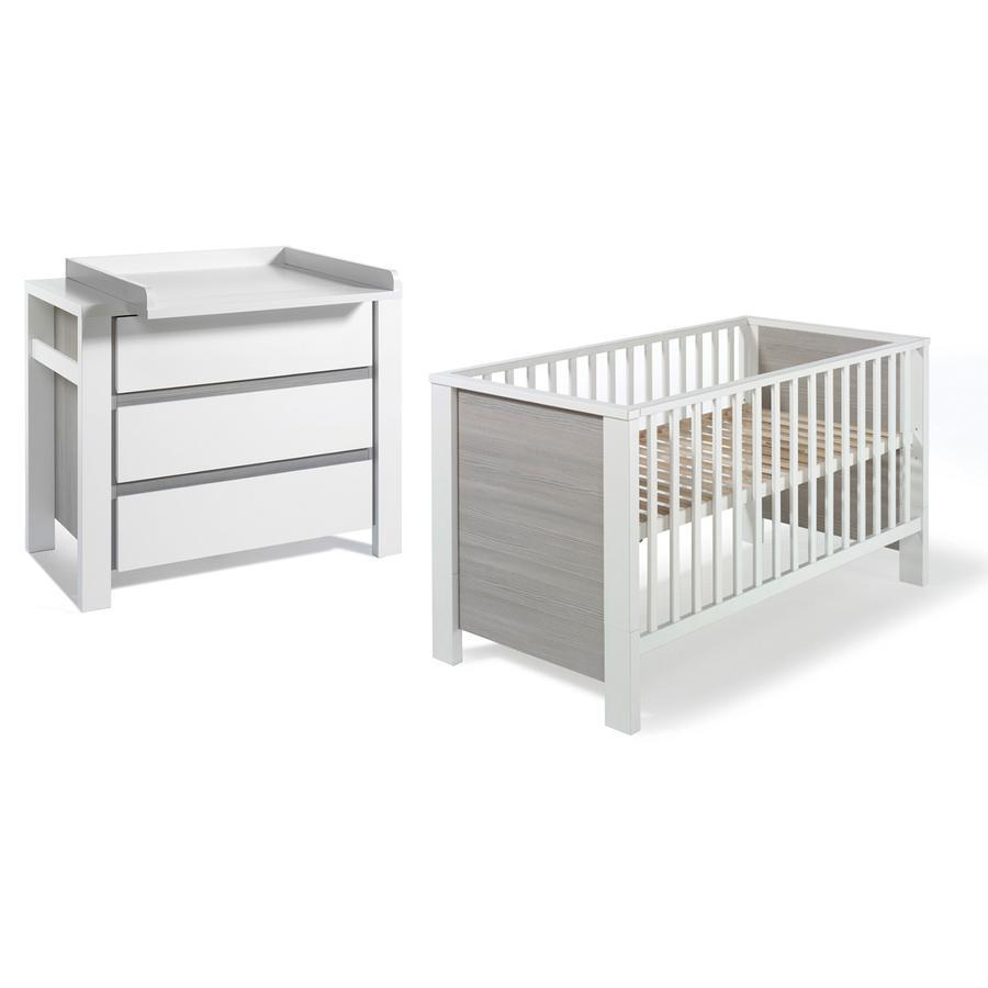 SCHARDT Milano Pin Kit chambre enfant avec lit kit de transformation commode et plateau
