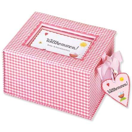 """COPPENRATH Baby-Schatzkästchen """"Willkommen!"""" rosa"""