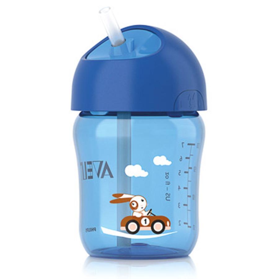 AVENT Drinkbeker met rietje 260ml blauw