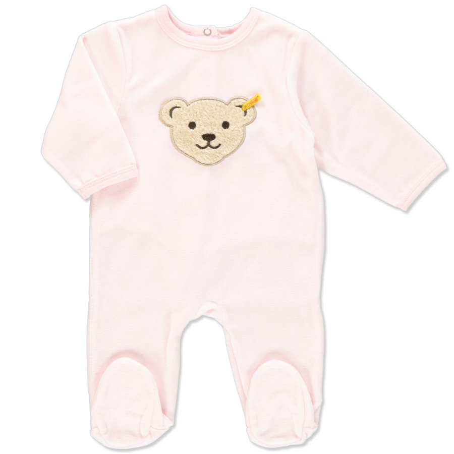STEIFF Girls Baby Velour Rompers barely pink
