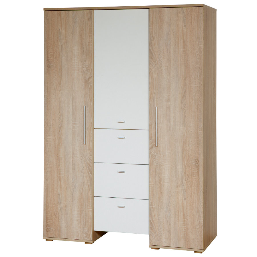 roba kleiderschrank daniel eiche s gerau 3 t rig. Black Bedroom Furniture Sets. Home Design Ideas