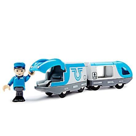 BRIO Blått batteridrivet passagerartåg