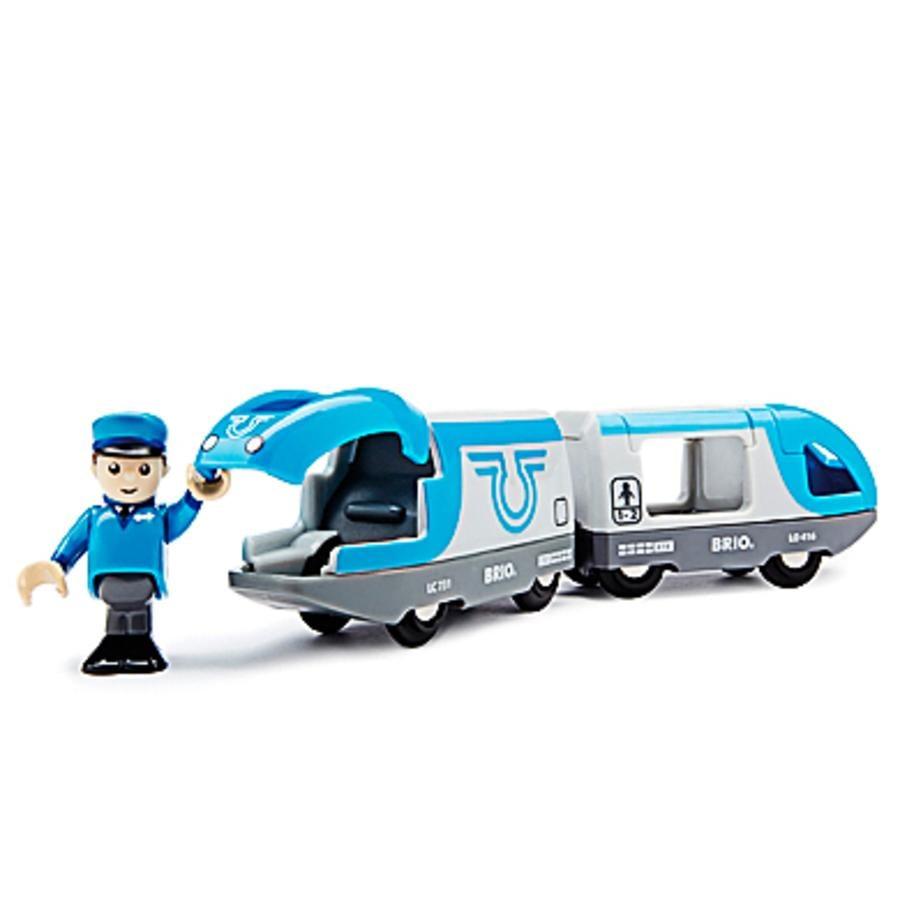 BRIO® WORLD Passasjertog, batteridrevet, blått