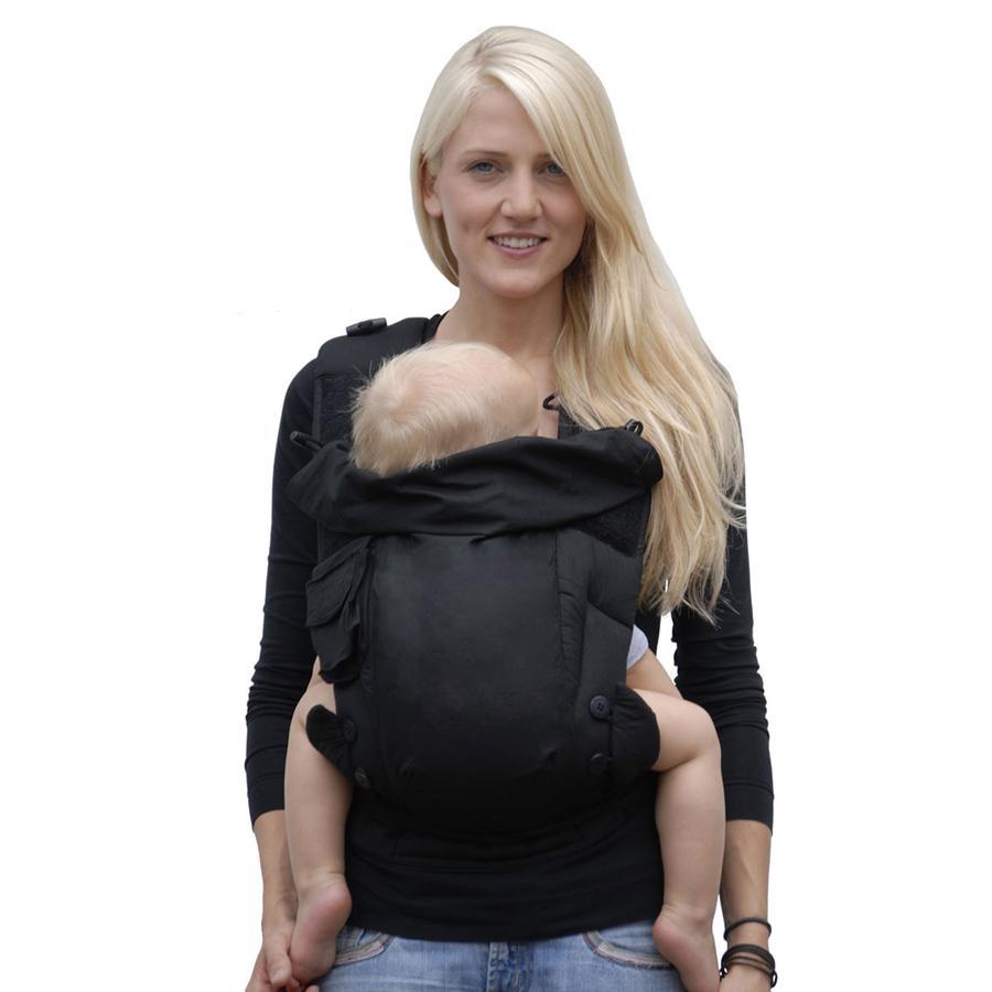 HOPPEDIZ Porte-bébé Bondolino Slim-fit, noir