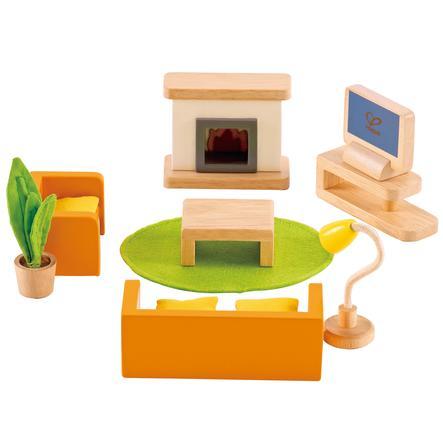 Hape Salon pour poupée 12 pièces bois E3452