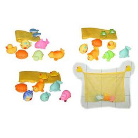 BIECO Badkarsnät med 6 simmande djur