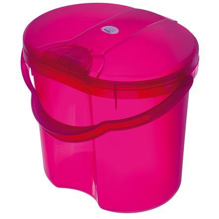 ROTHO Wiaderko na zużyte pieluszki TOP Translucent Pink