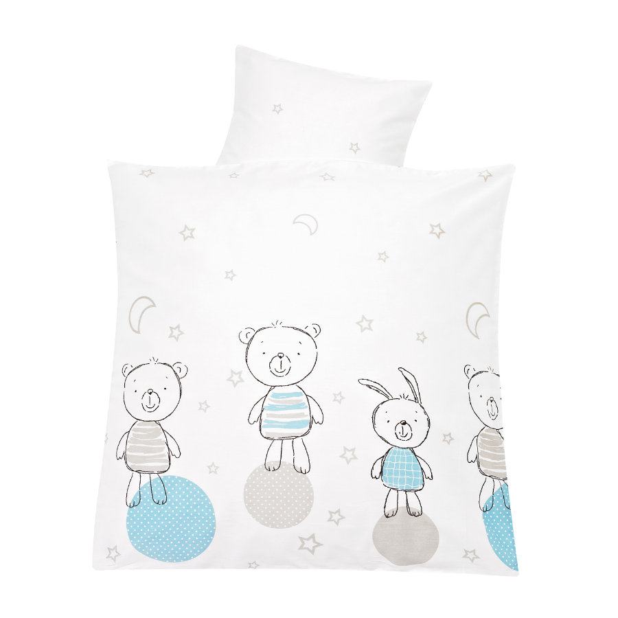 ALVI Parure de lit standard - Best friends bleue 80 x 80