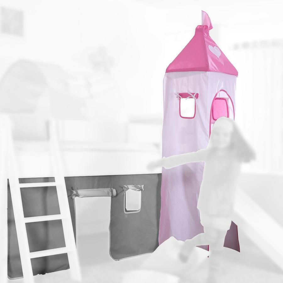 Relita Turm Set klein rosa / weiß-Herz