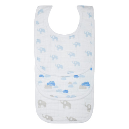 LÄSSIG Bib value pack Lätzchen Elephant & Clouds boys 3er Set