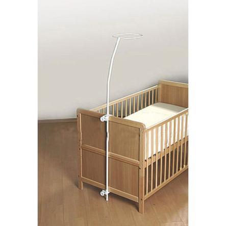 Alvi® Flèche de lit enfant Standard métal blanc, ronde