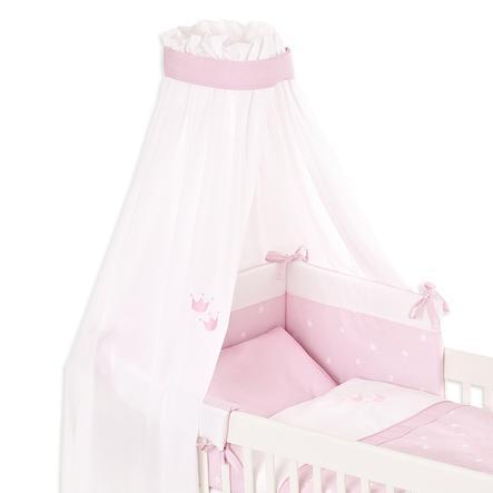 TRÄUMELAND Sänghimmel Krona rosa 160 x 300 cm