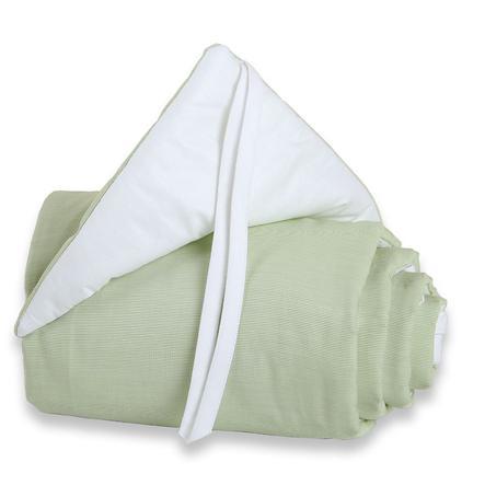 TOBI BABYBAY Ochraniacz Original kolor zielony/biały