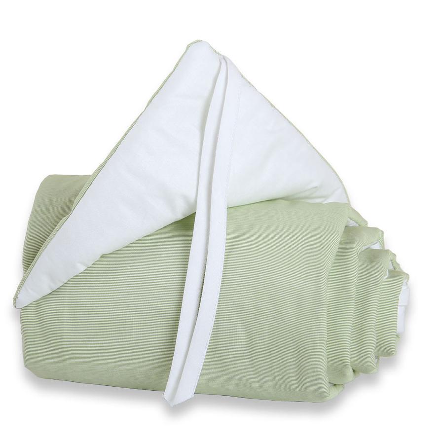 babybay Spjälsängsskydd Original grön/vit