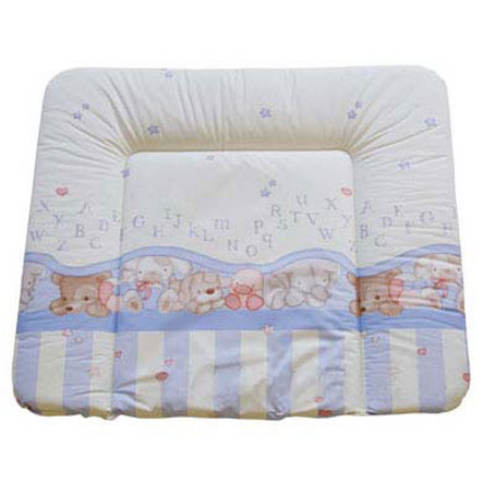 Rotho Babydesign Wickelauflage 75x85cm bedruckt Bärchen/ABC baby bleu perl phalatfrei*