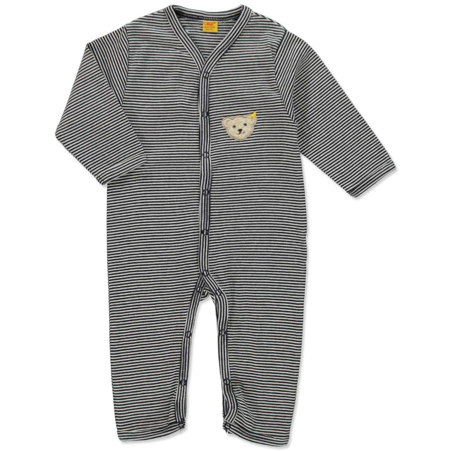 STEIFF Baby Sleep Suit Stripes navy