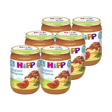 HIPP Bio Spaghetti Bolognese, pack of 6 (6 x 190g)