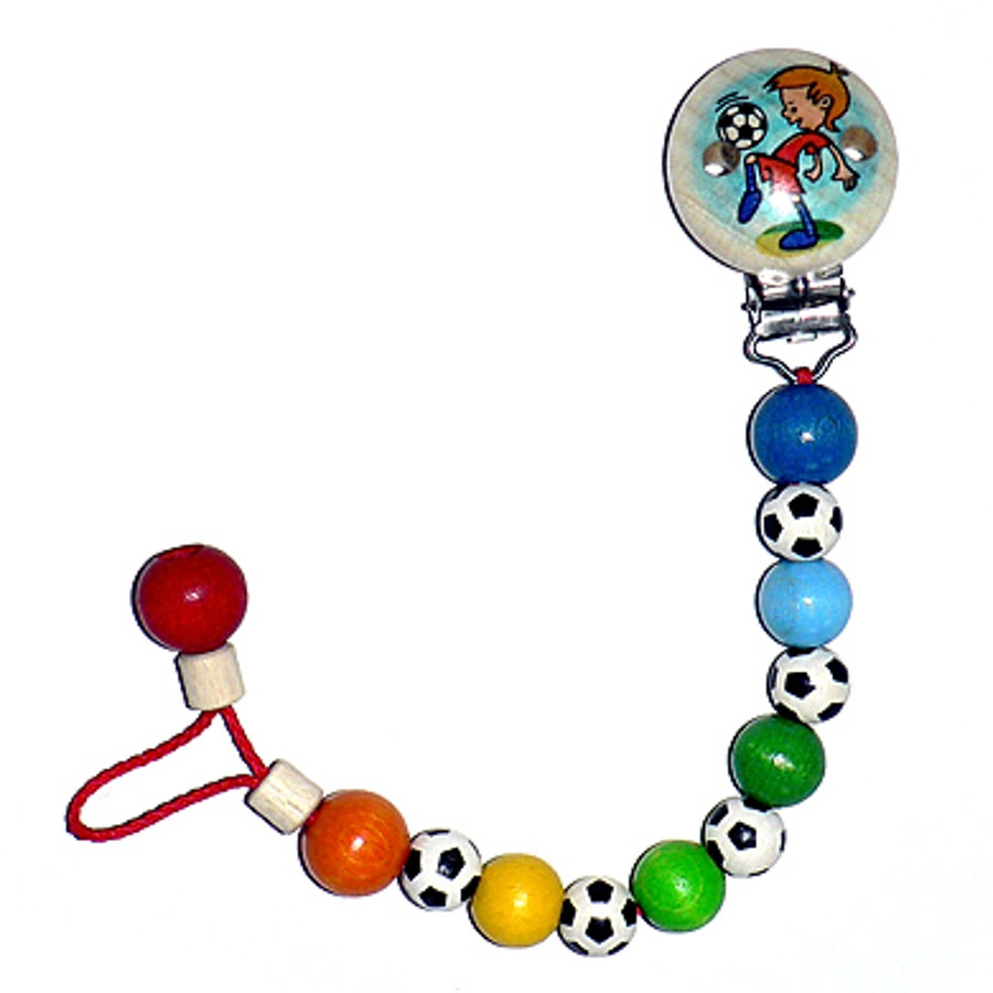 HESS Soother Chain SOCCER PLAYER BOY