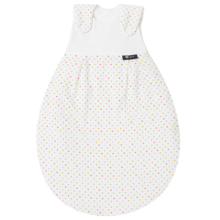 ALVI Baby Outer Sleeping Bag cotton jersey, Colourful Dots size 80/86 cm