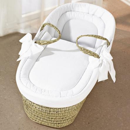 LEIPOLD Navicella in Vimini Design Wendy bianco