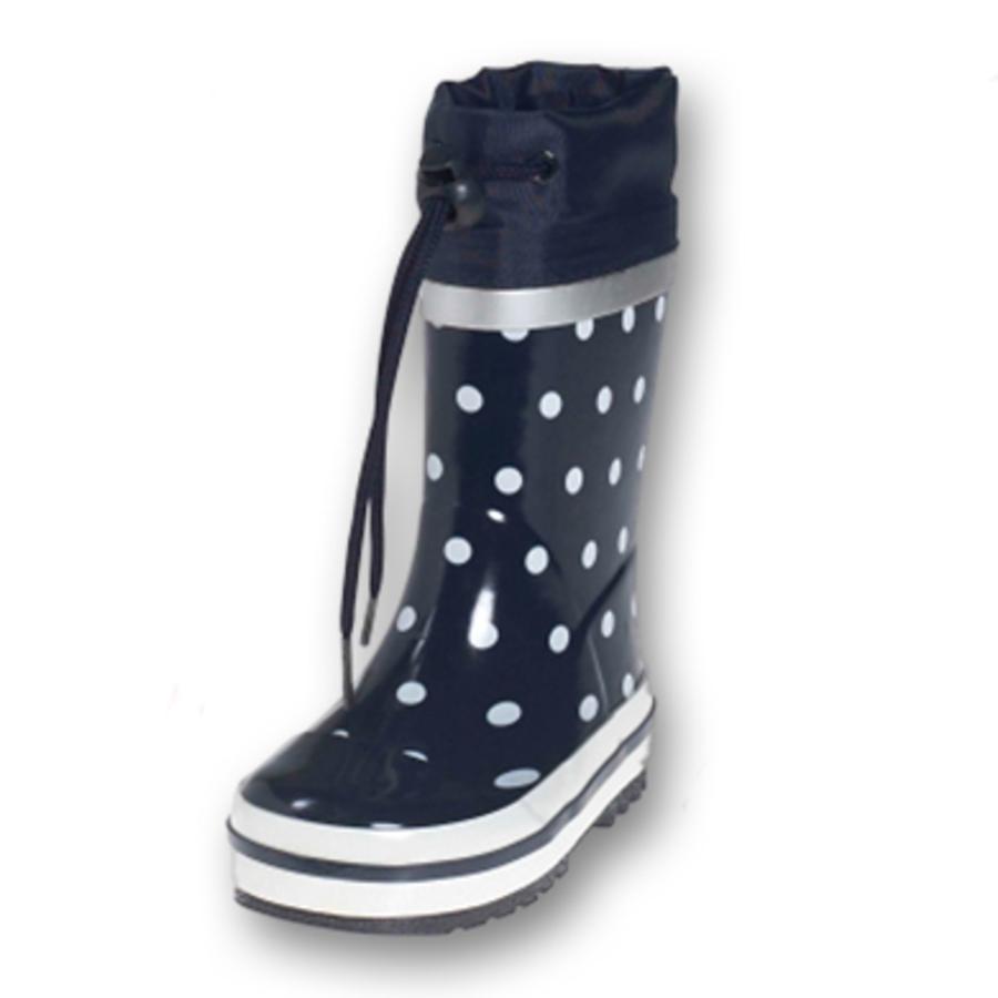PLAYSHOES Stivali di gomma a pois, colore marine