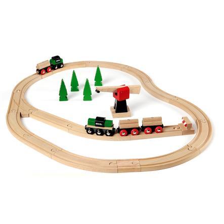 BRIO Drewniany zestaw szyn kolejowych Classic Line Deluxe