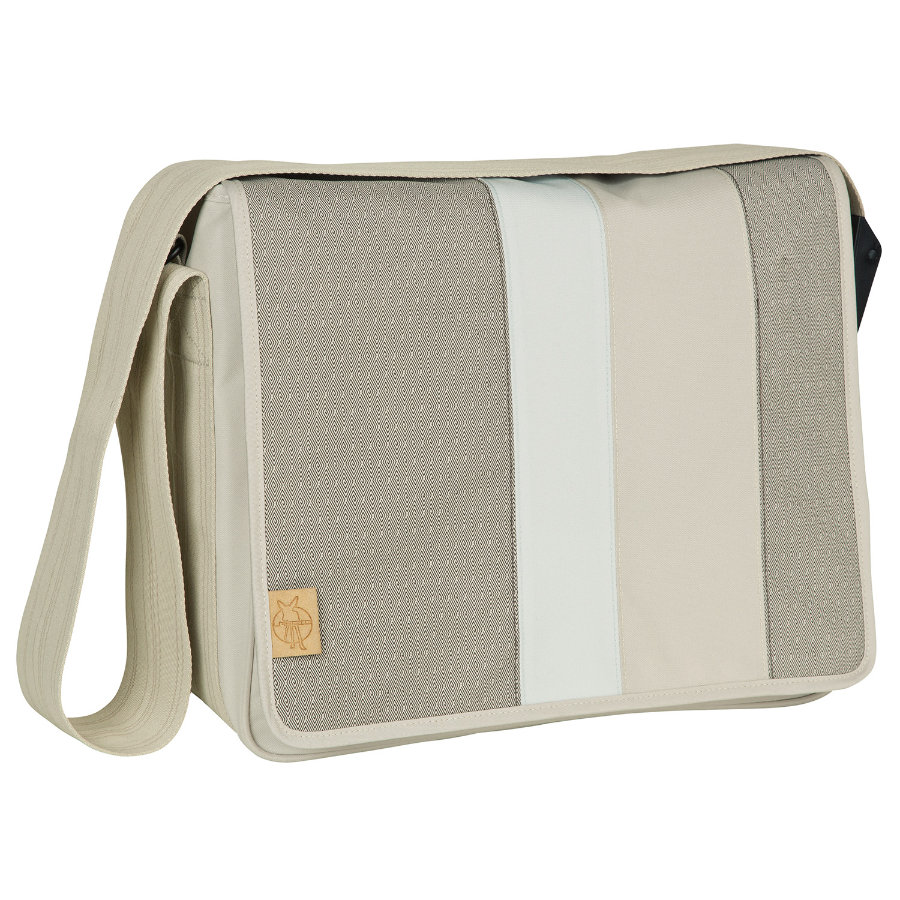 LÄSSIG Wickeltasche Casual Messenger Bag Line-up sand