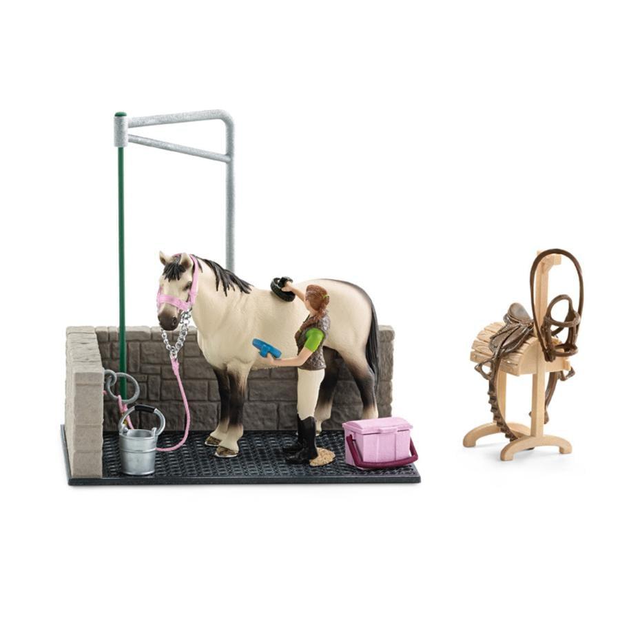 Schleich Figurine box de lavage pour chevaux 42104