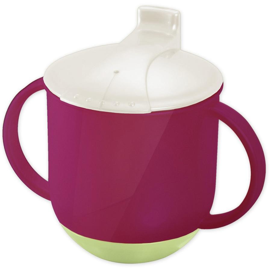 ROTHO Mugg Baby raspberry perlvit creme lindgrön BPA-fri