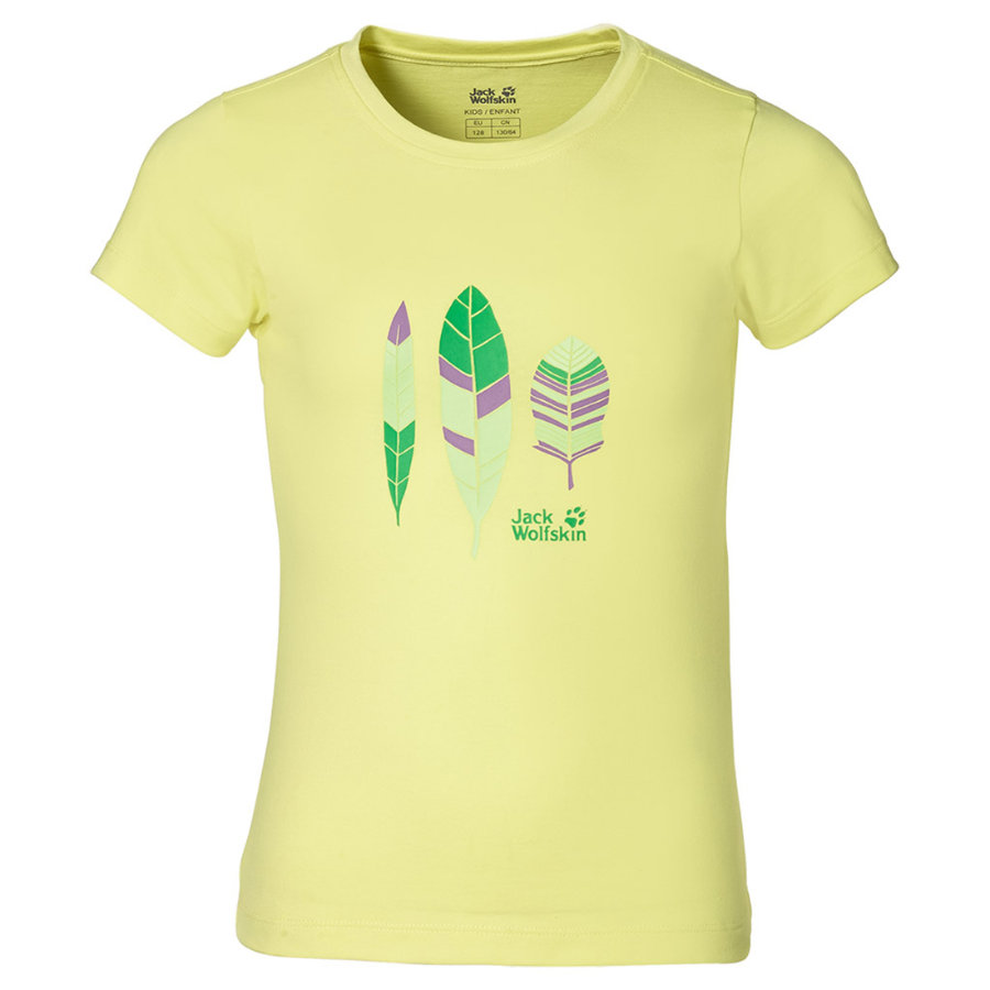 Jack Wolfskin Girls T-Shirt FOLIAGE lemonade