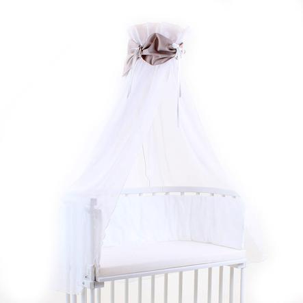 TOBI BABYBAY Ciel de lit marron/blanc