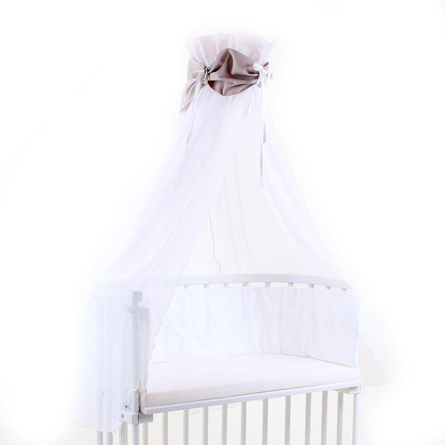 babybay Ciel de lit, brun/blanc, 200 x 135 cm