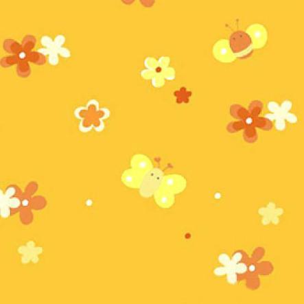 THERALINE Päällinen Original-imetystyynyyn, kukkaniitty, oranssi (86)