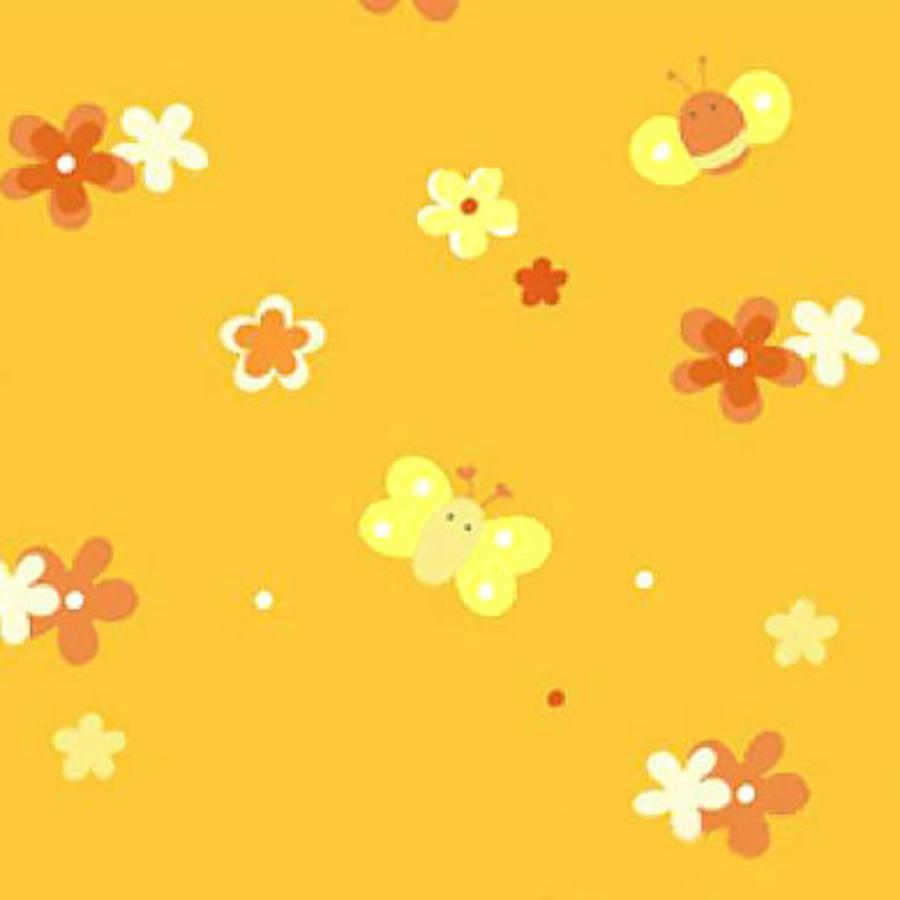 THERALINE Bezug für Original Stillkissen Design Blumenwiese orange (86)