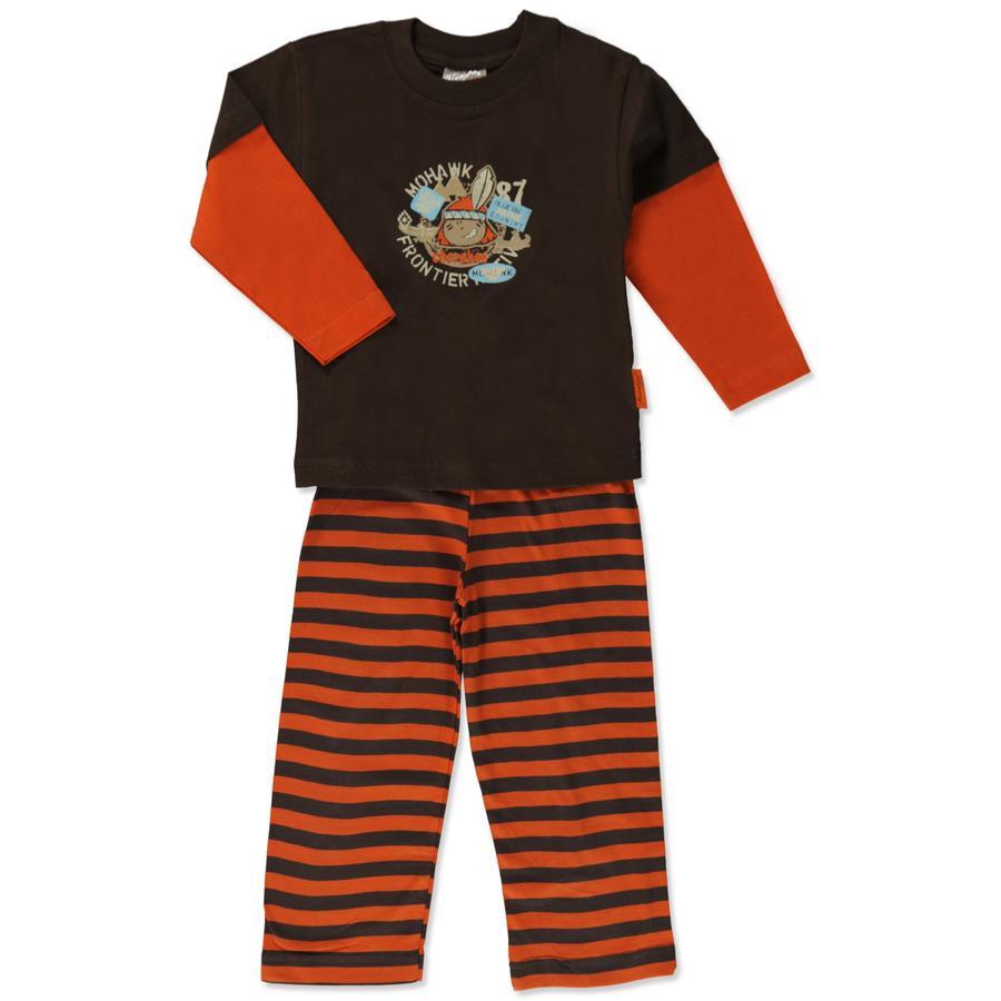 MOONLINE Boys Mini Schlafanzug LUTZ braun