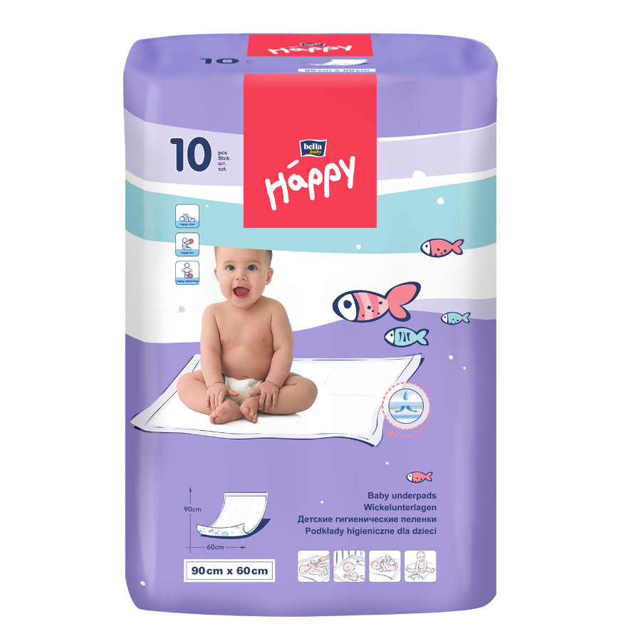 Bella Happy Disposable Changing Pads 10 Pcs.