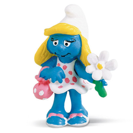 SCHLEICH Smurfette with Flower 20421