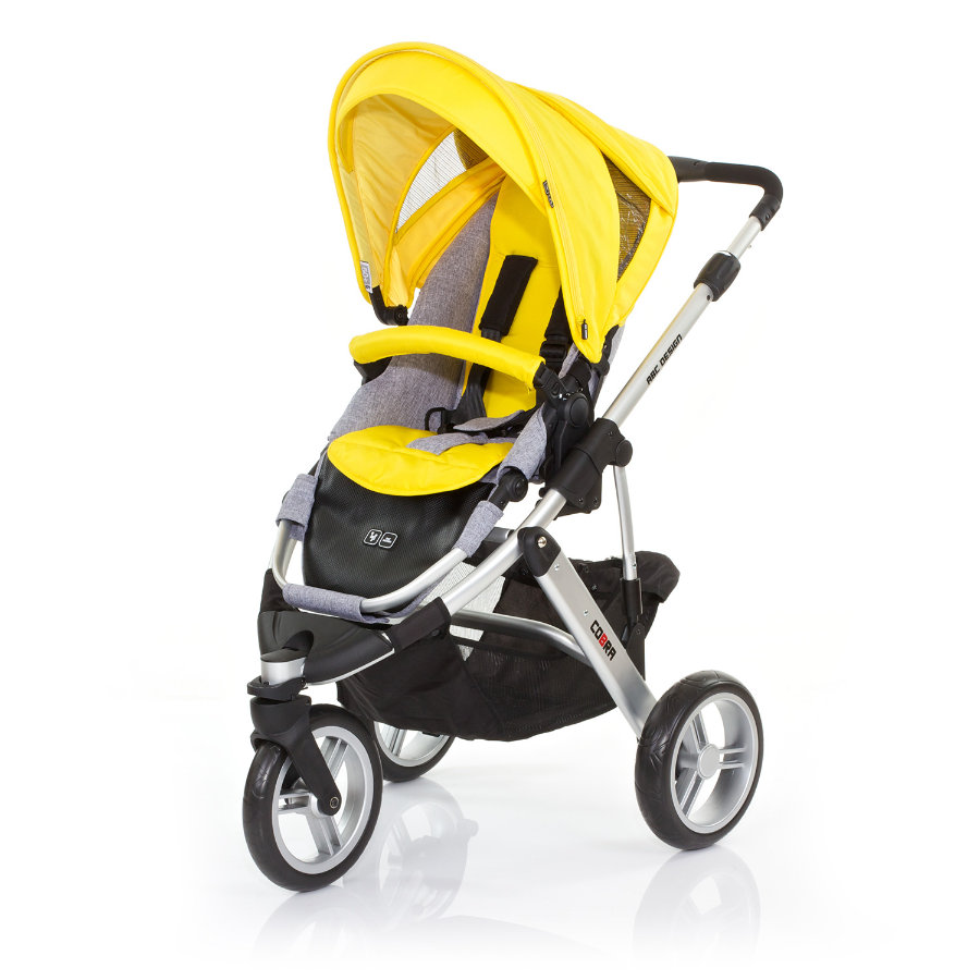 ABC DESIGN Kinderwagen Cobra citro Gestell silver / graphite
