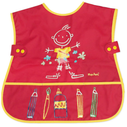 PLAYSHOES Sleeveless Paint Smock red