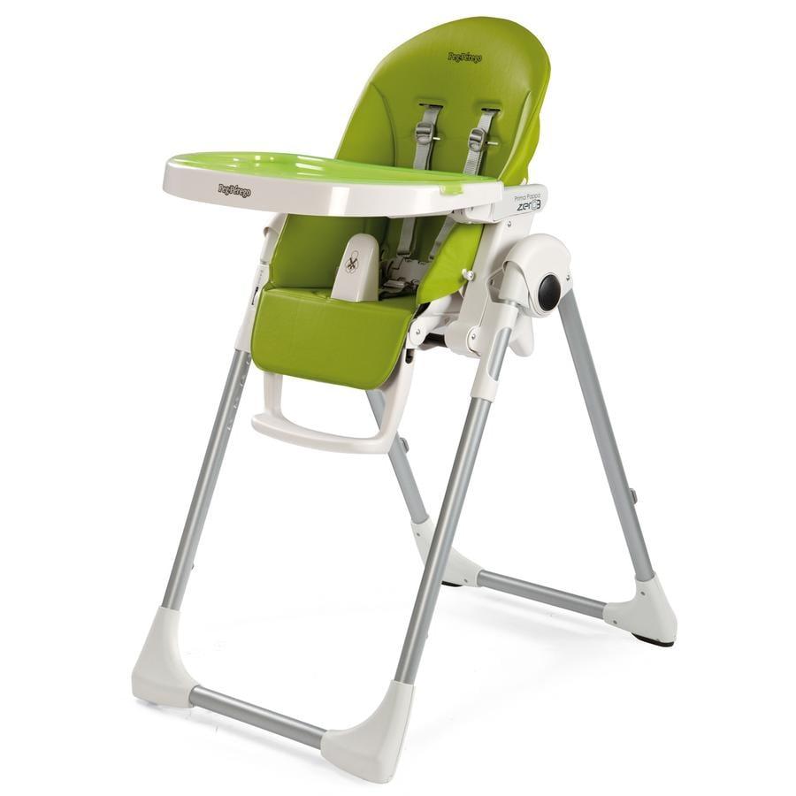 Peg-Perego Chaise haute bébé Prima Pappa Zero3 Mela, similicuir
