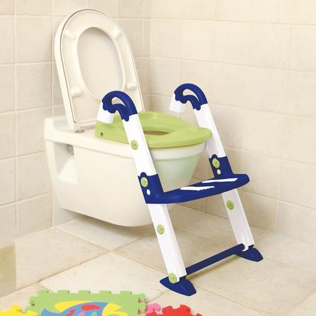 ROTHO Riduttore per wc con scaletta - Kidskit 3-in1 blu/bianco/verde